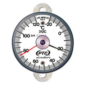 Tab Mount Thermometer with Ancillary Hand