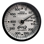 0° to 500°F Rail Thermometer