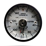 Model 315FRRL Fahrenheit 0° to 150°F Industrial Magnetic Rail Thermometer with Ancillary Hand