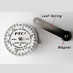 0°F to 270°F Spot Check® Thermometer Magnet & Leaf Spring 570FM