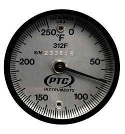 0° to 250°F Magnetic Surface Thermometer 312F