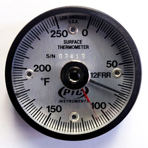 0° to 250°F Magnetic Rail Thermometer / Ancillary Hand