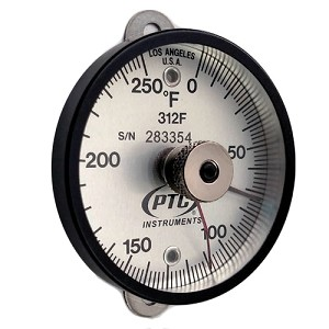 0° to 250°F Tab Mount Thermometer Ancillary Hand 312FT1L