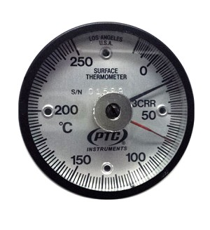 10° to 400°C Magnetic Rail Thermometer with Ancillary Hand 314CRRL