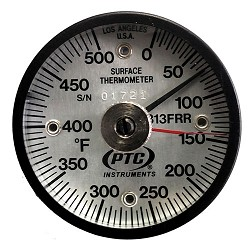 0° to 500°F Magnetic Rail Thermometer / Ancillary Hand