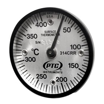 10° to 400°C Magnetic Rail Thermometer 314CRR