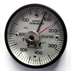 50° to 750°F Rail Thermometer-Ancillary Hand 314FRRL