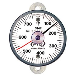 50° to 750°F Tab Mount Thermometer Ancillary Hand 314FT1L
