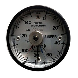 Model 315FRRMM Fahrenheit 0° to 150°F Industrial Magnetic Rail Thermometer with Max-Min Hands