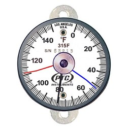 0° to 150°F Tab Mount Surface Thermometer / Max-Min Hands  315FT1MM