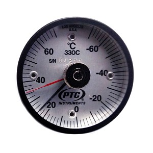 -100° to 160°F Magnetic Rail Thermometer with Ancillary Hand Model 330FRRL