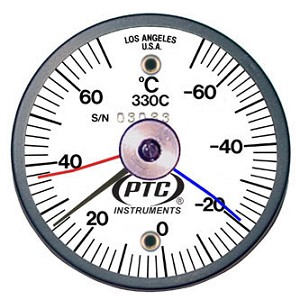 -70° to 70°C Magnetic Rail Thermometer Max-Min Hands 330CRRMM