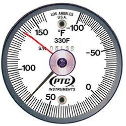 -100° to 160°F Rail Thermometer - Ancillary Hand 330FRRL