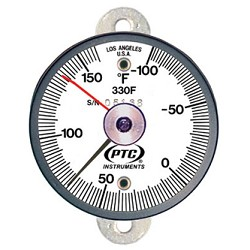 Model 330FT1L -100° to 160°F Tab Mount Surface Thermometer with Ancillary Hand