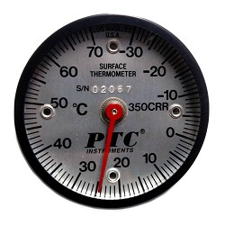 Model 350CRR Celsius -30° to 70°C Rail Thermometer