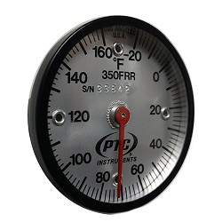 -20° to 160°F Magnetic Industrial Rail Thermometer Model 350FRR