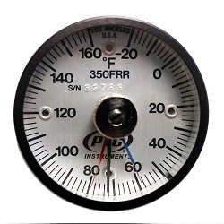 Model 350FRRMM Fahrenheit -20° to 160°F Rail Thermometer with Max-Min Hands