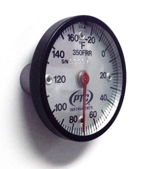 -20° to 160°F Magnetic Rail Thermometer Lazy Hand Model 350FRRL