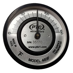Pipe Thermometer - Spring Held