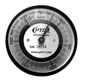 "Pipe Thermometer - Clip-On for Pipe Dimensions 3/4"" to 2 3/8"""