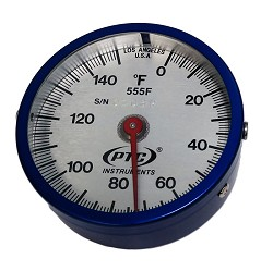 0° to 150°F Ultra Magnetic Rail Thermometers Model 555F