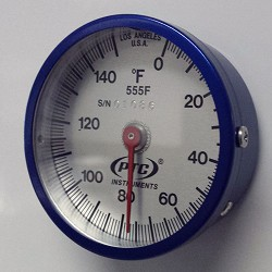 0° to 150°F Ultra Magnetic Rail Thermometers-555F
