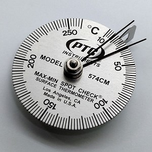 10° to 260°C Spot Check® Thermometer Max-Min Hands 574CM