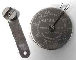 50° to 1000° F Spot Check® Thermometer Stainless Steel Dial 575FMSS