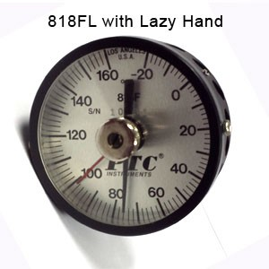 Air Monitoring Thermometer with Lazy Hand
