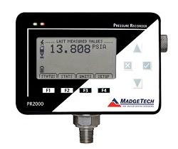 Pressure Recorder with LCD Display and Universal Power Supply